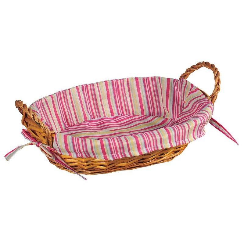 Ваза плетеная с ручками нат.дерево/ткань 32х23х13Ваза  Kesper сплетена из лозы и оснащена двумя удобными ручками. На внутреннюю поверхность корзинки надет хлопковый чехол. Корзина очень практична и легка. Изделие подходит для хранения фруктов или сладостей.<br>