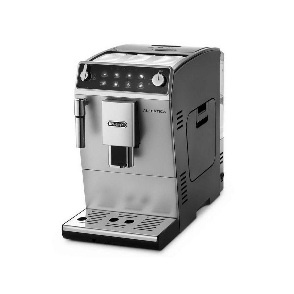 Кофемашина ETAM29 510 SBКомпактная машина компании «Делонги» для приготовления кофе в прочном серебристо-черном корпусе украсит кухню и порадует домочадцев или сотрудников офиса изысканным ароматным напитком. Двойной эспрессо при оптимальном давлении можно приготовить, щелкнув по клавише Доппио+. Благодаря этой функции кофе предварительно настаивается и становится необычайно ароматным. Кроме того, машина не откажет и в любимом многими капучино (молоко вспенивается вручную). Сенсорная панель управления модели с мягкой подсветкой проста и доступна любому пользователю. Качественная сборка и прочные материалы изделия гарантируют долгий срок службы.<br>