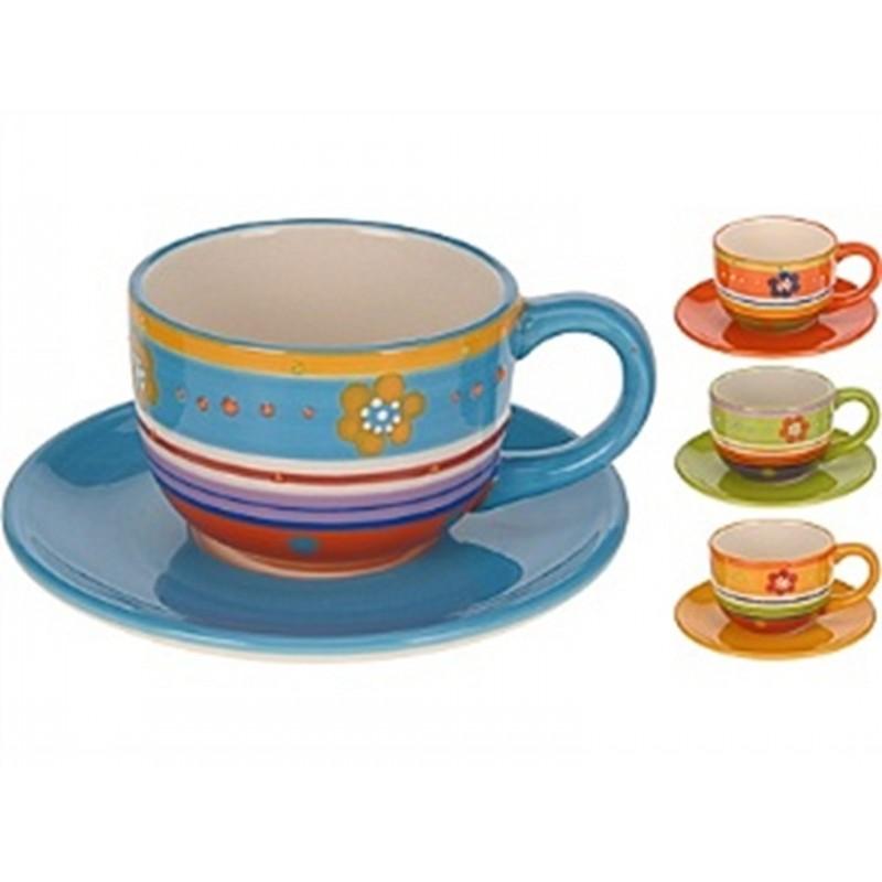 Чашка с блюдцемExcellent Houseware производит посуду и различные предметы для дома. Чашка с блюдцем - прекрасный подарок для чаеманов. Они создают уютную атмосферу спокойствия и гармонии, и, конечно, украшают стол. Внимание! Выбрать цвет заранее не представляется возможным.<br>