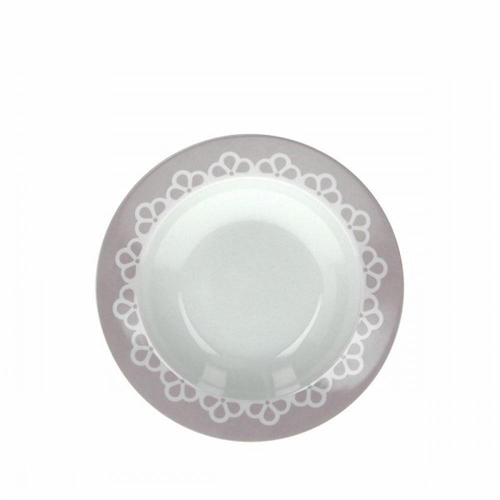 Тарелка суповая OLIMPIA ROMANCEТарелка для супа фирмы Tognana сделана из высококачественного фарфора. Имея оригинальный дизайн, тарелка отлично подойдет для украшения и сервировки ваших блюд. Этот элемент посуды является неотъемлемым на любой кухне.<br>