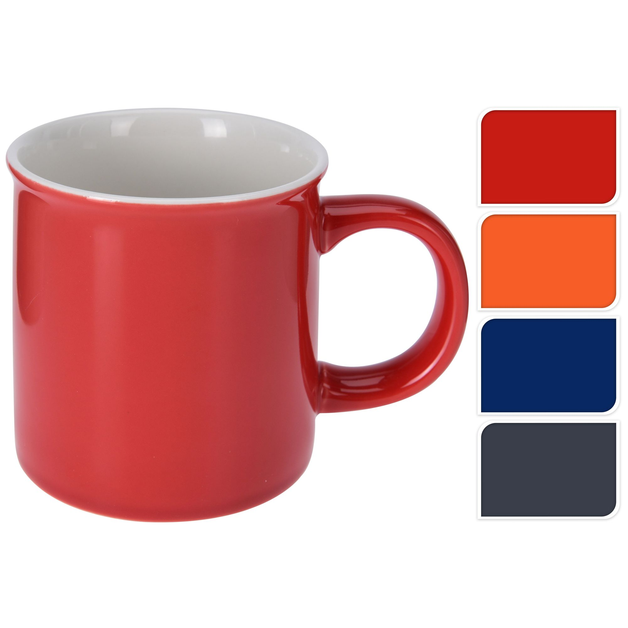 Кружка 8,5*8,5 см однотонная в ассортиментеКружка – любимый всеми аксессуар, который присутствует в каждом доме. Однотонное изделие лишено каких-либо дополнительных вычурных элементов декора. В этом его главное достоинство. Кружка будет идеально сочетаться с интерьером кухни любого стиля, все зависит от цветового решения. Белая внутренняя часть контрастирует с яркой наружной и смотрится эффектно. Диаметр верхней и нижней части одинаков, что придает кружке сходство с цилиндром. Классическое изделие характеризуется удобством эксплуатации, имеет широкую удобную ручку и небольшой вес, так как изготовлено из фарфора.<br>