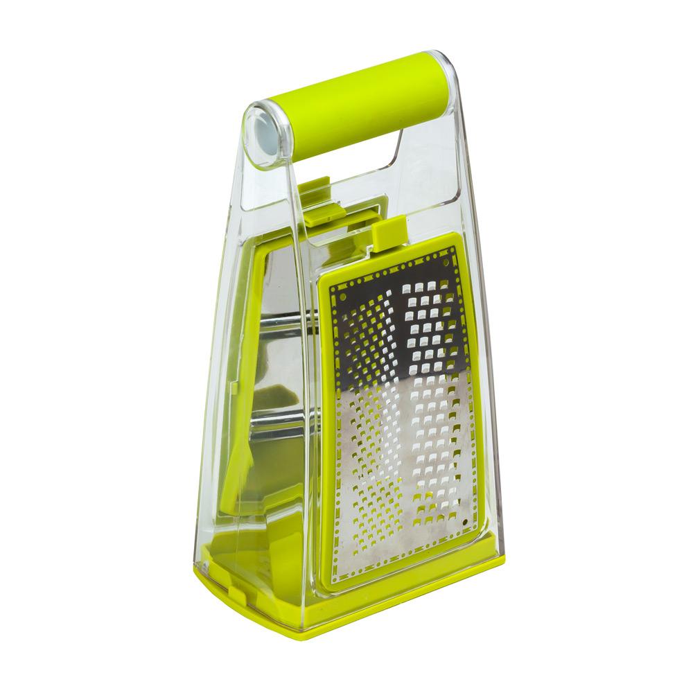 Терка 3 в 1Тёрка от Magia Gusto - незаменимый помощник на кухне, т.к. благодаря острым лезвиям и съёмному контейнеру Вы без труда нарежете ровными ломтиками любые продукты. Модель изготовлена из пищевого пластика и имеет острые лезвия из нержавеющей стали. Эргономичная ручка со специальной противоскользящей вставкой - для удобного и безопасного использования. Благодаря компактной конструкции Вы сможете найти для нёё место даже на самой крошечной кухне.<br>