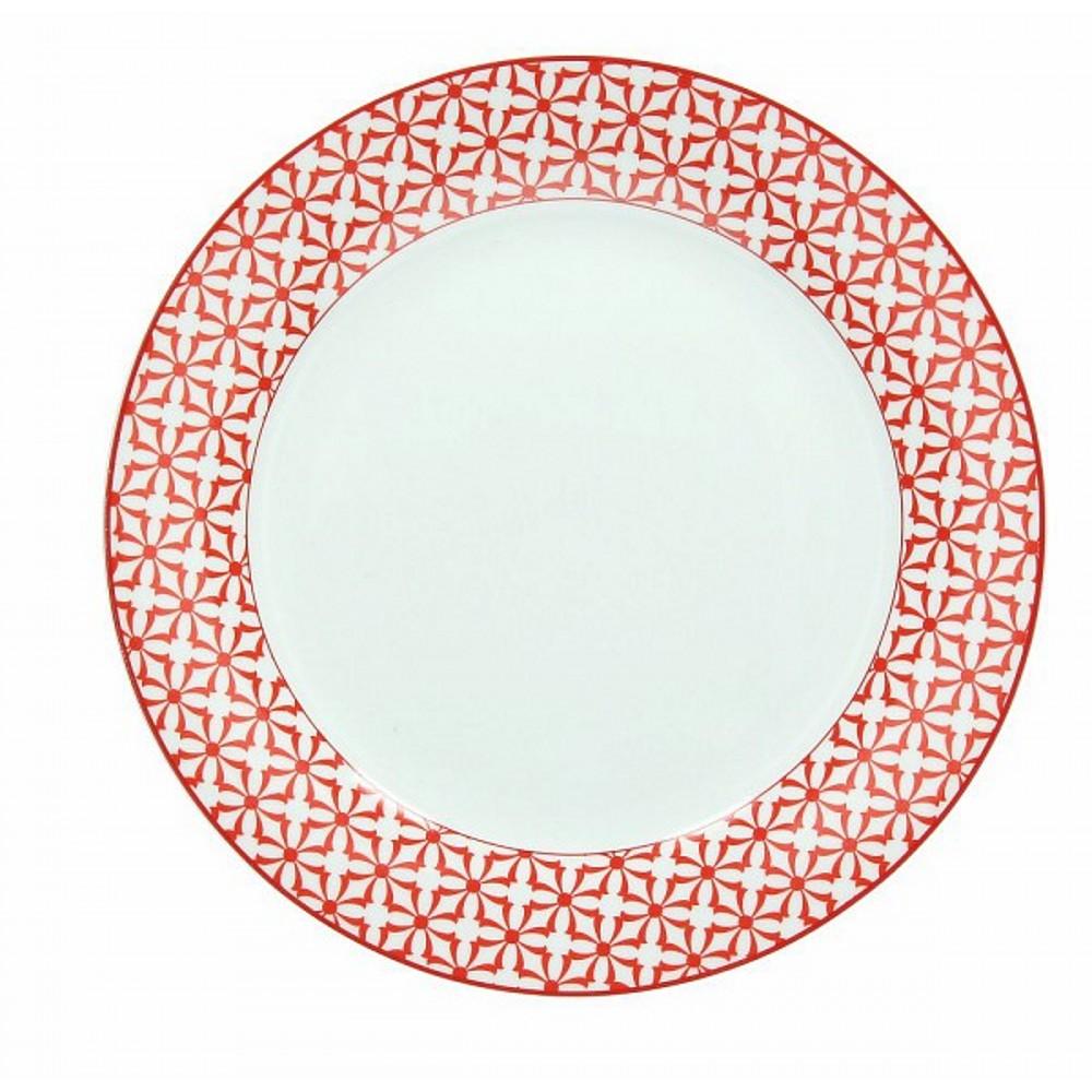 Тарелка обеденная OLIMPIA  KUBIK ROТарелка обеденная фирмы Tognana сделана из высококачественного фарфора. Имея оригинальный дизайн, тарелка отлично подойдет для украшения и сервировки ваших блюд. Этот элемент посуды является неотъемлемым на любой кухне.<br>