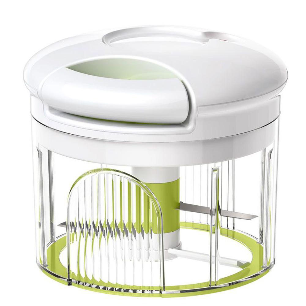 Овощерезка/сушка д/зелени TURBOLINE 0,9лОвощерезка фирмы Emsa позволит нарезать фрукты и овощи за считанные минуты. Механической овощерезкой очень легко пользоваться. Можно легко регулировать степень измельчения. Она станет незаменимым помощником у вас на кухне.<br>