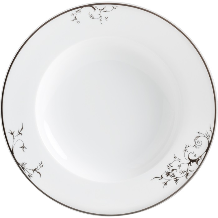 Тарелка суповая 23 см, ExcellentКлассическая модель из коллекции Aronda от Kahla всегда остается необходимым элементом для украшения вашего стола. Отлично походит для супов, придавая блюду красивое обрамление, возбуждая еще больший аппетит.<br>