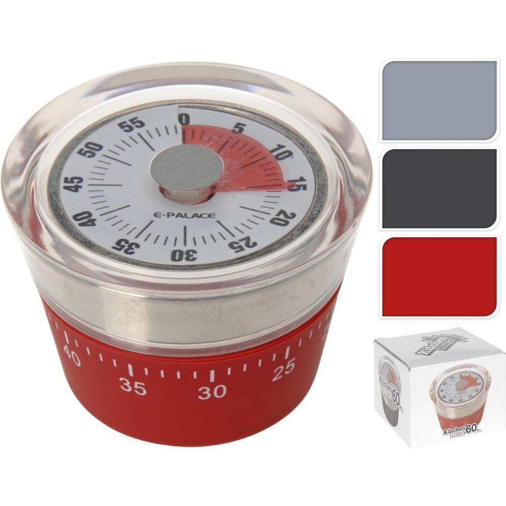 Таймер кухонный d7,5 h5 см в ассортиментетаймер кухонный, диам. 7,5 см, выс. 5 см<br>