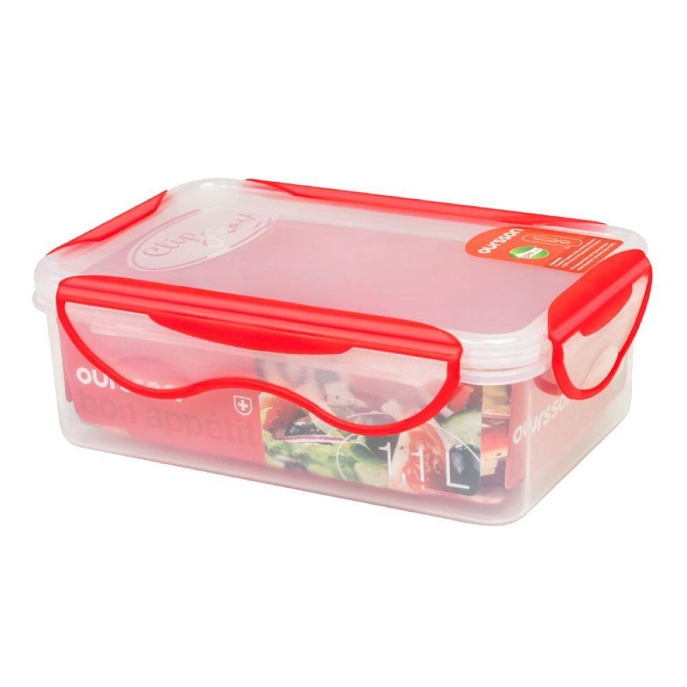 Контейнер пластиковый с разделителем 1,1 лКонтейнер пищевой отлично пододйет для того, чтобы взять свой обед с собой в дорогу, для хранения и заморозки продуктов. Герметичная крышка на заклепках надежно защитит вашу еду. Здоровое питание это просто!<br>