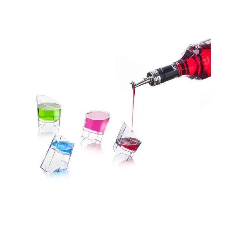 Джиггер 4 объёма в 1Джиггер, мерный стаканчик, это удобный способ отмерять нужное количество жидкостей д/создания коктейлей. Благодаря инновационной форме небольшой джиггер позволяет отмерить четыре различных объёма! Просто установите стаканчик в положение, которое соответствует необходимому объёму, и наполните его жидкостью до края.<br>