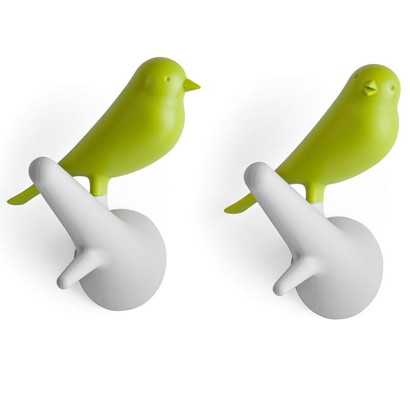 Вешалки настенные Sparrow 2 шт. белые-зеленые