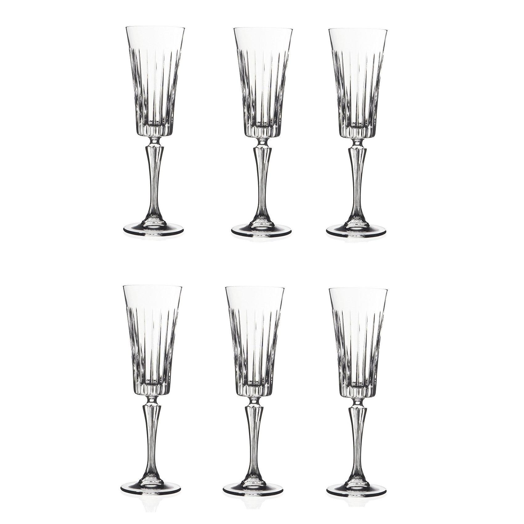 Набор бокалов для шампанского 210 мл. 6 шт. TIMELESSНабор бокалов для шампанскогоТаймлесс отличается изысканностью и элегантностью дизайна. Высокие стенки узкого бокала обеспечивают длительное сохранение вкуса и аромата игристого напитка, а преломление света в гранях стекла привнесет в ваш праздник настроение торжественности и роскоши. Бокалы изготавливаются из прочного стекла, для создания которого не применяются токсичные вещества. Набор станет универсальным выбором для дома, а также подойдет для применения в барах и ресторанах благодаря универсальному исполнению. Набор бокалов для шампанскогоТаймлесс – выбор для самых ярких праздников.<br>