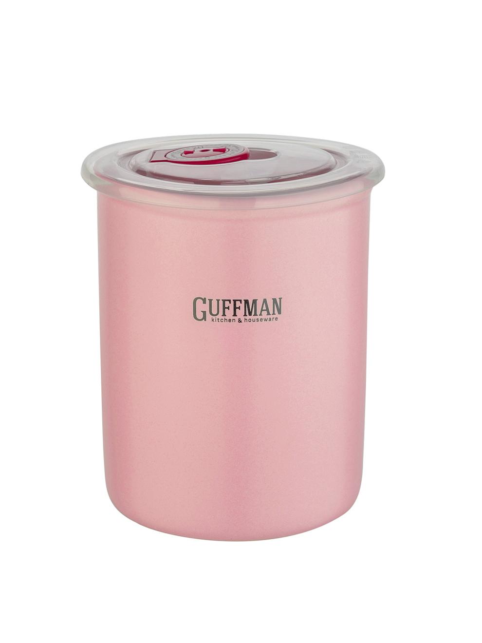Банка керамическая с крышкой 0,6л Guffman розовая