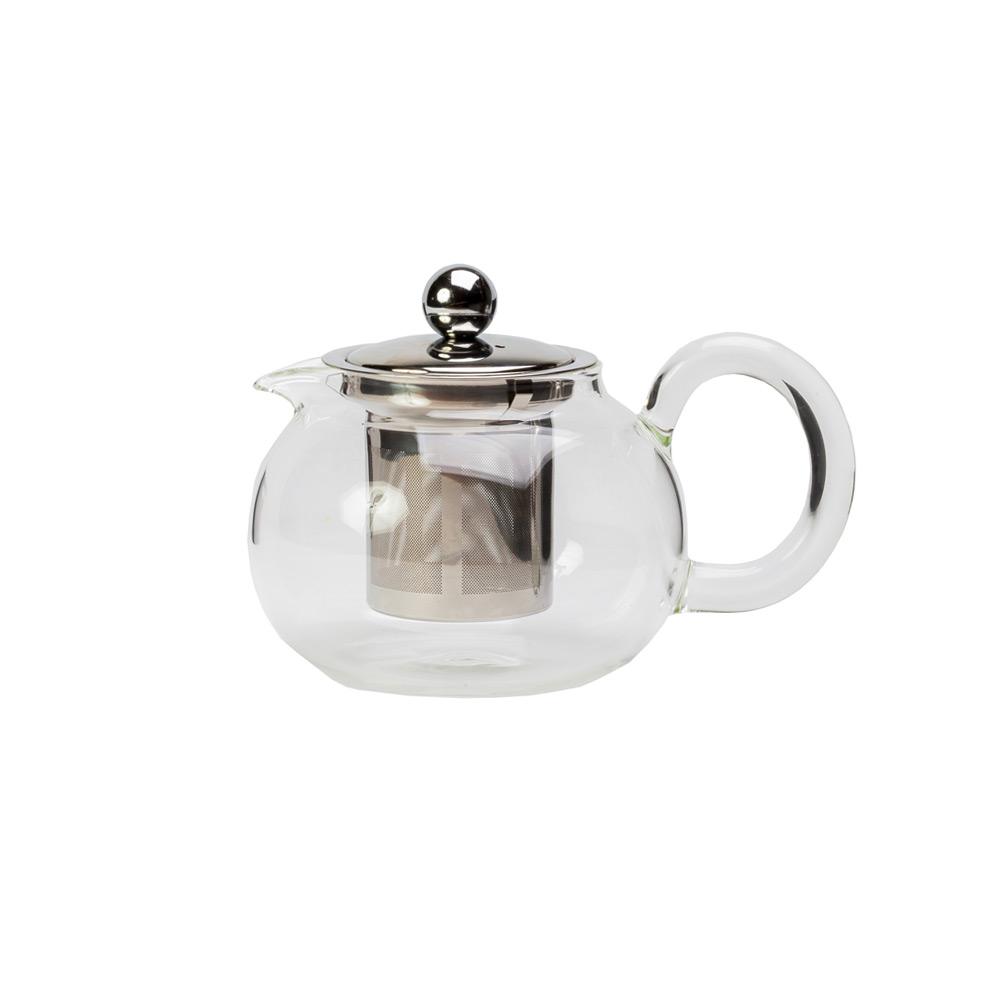 Чайник стеклянный «Тиу-гани» , с фильтром, 800млЧайник имеет интересный современный дизайн и изготовлен из прозрачного стекла. Использовать такой чайник на кухне очень удобно. Благодаря прозрачному стеклу можно насладится цветом любимого чая. Также в чайнике тепло будет сохранятся дольше, что будет особенно приятно в холодное время года.<br>