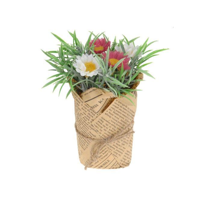 Цветок искусственный в горшке в ассортименте