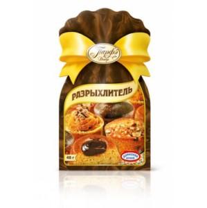 РазрыхлительРазрыхлитель теста применяется для приготовления изделий из недрожжевого теста: бисквитов, печенья, кексов, пряников, блинов и т. д. Благодаря ему выпечка получается более пышной и румяной.<br>