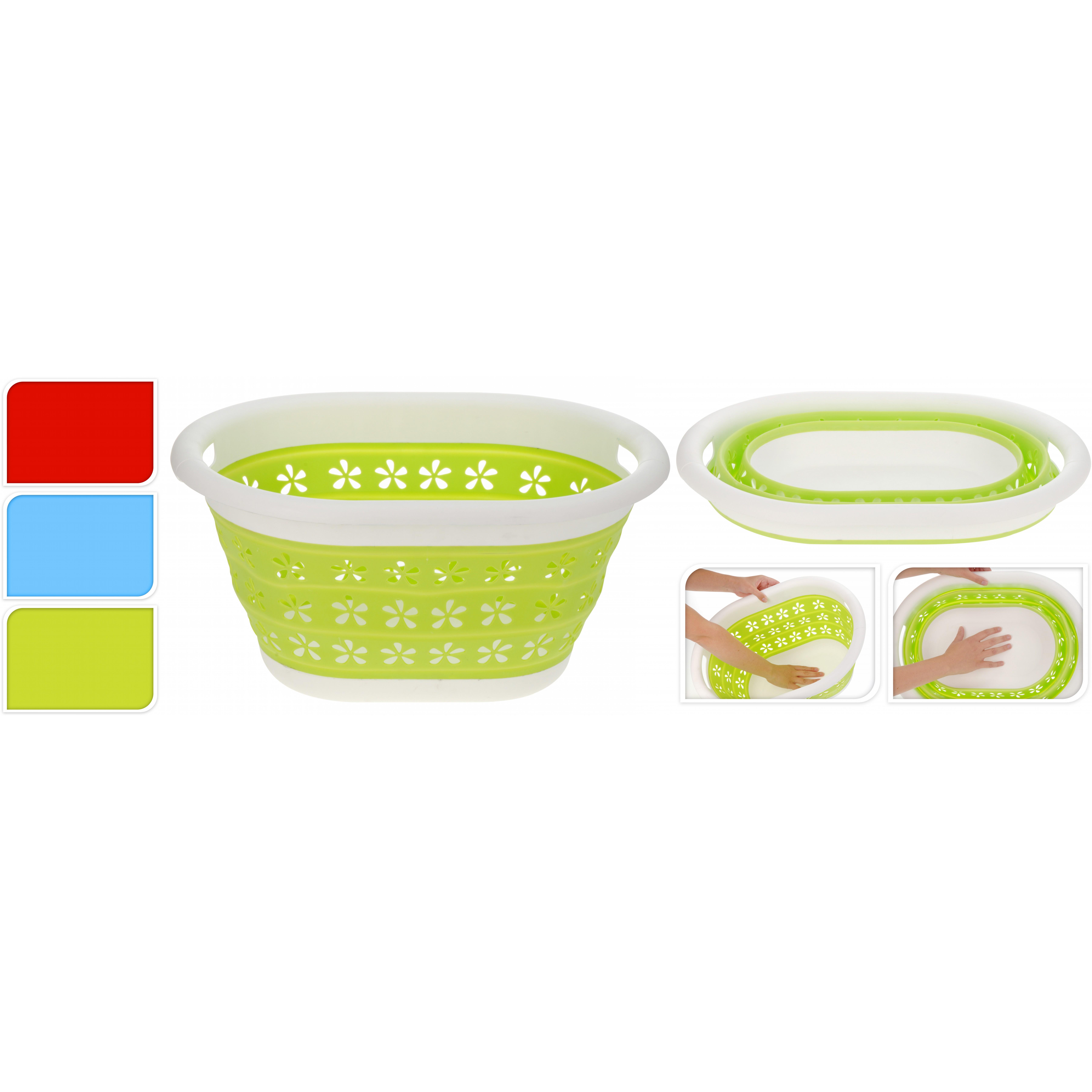 Корзина хозяйственная складнаяExcellent Houseware производит посуду и предметы домашнего обихода. Хозяйственная корзина пригодится каждому. В ней можно хранить продукты питания (картофель, лук и прочие)или различные вещи (например, полотенца). Ее можно использовать и в саду при сборе урожая. Внимание! Выбрать цвет заранее невозможно.<br>