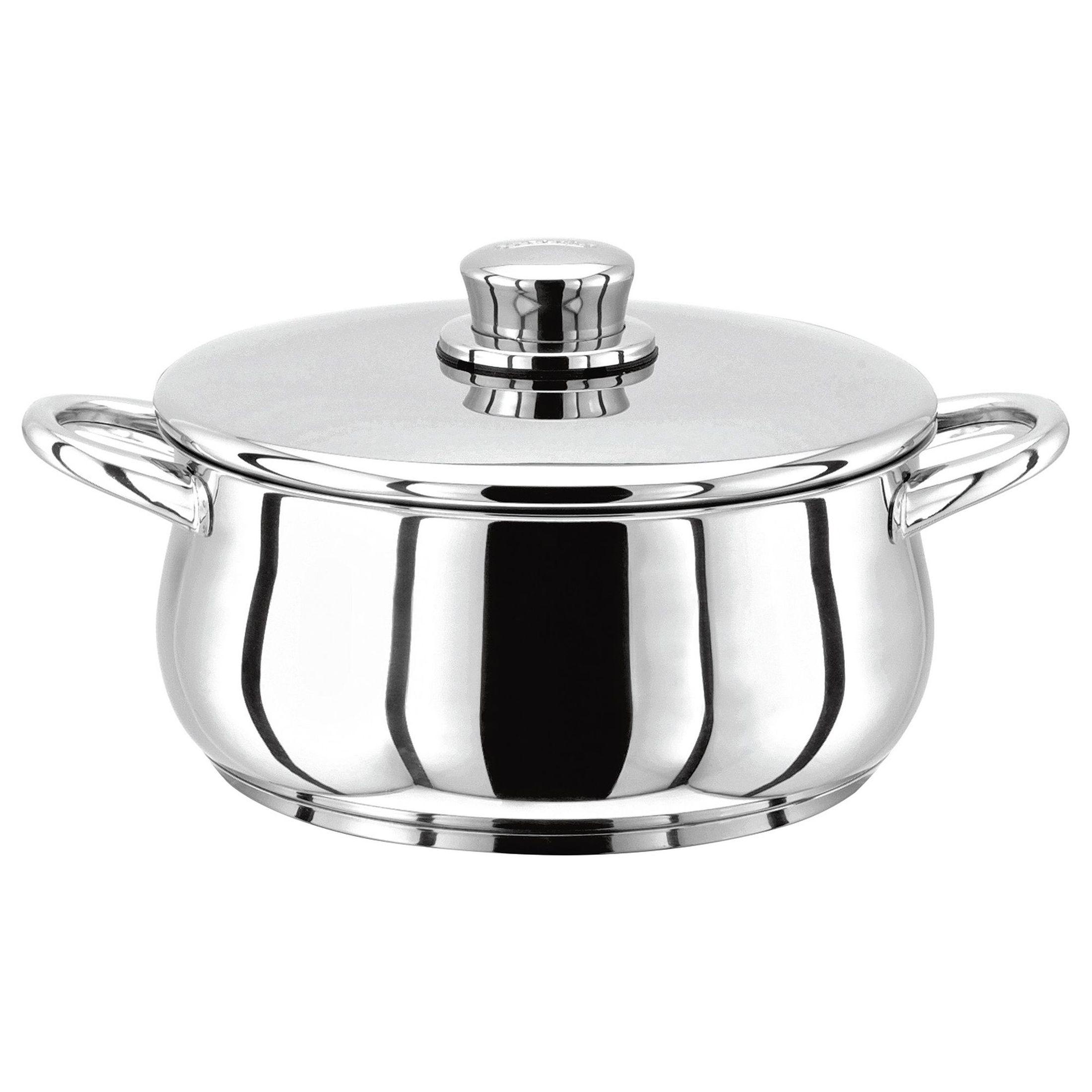 Stellar 1000 Кастрюля24 см, 3,2 лКлассическая английская форма посуды в сочетании с непревзойденным европейским качеством. Дно посуды изготовлено методом горячей ковки, что гарантирует равномерное распределение тепла на всех типах варочных панелей. Хромированная нержавеющая сталь.  Пригодны для использования в духовке (до 240 гр. С).<br>