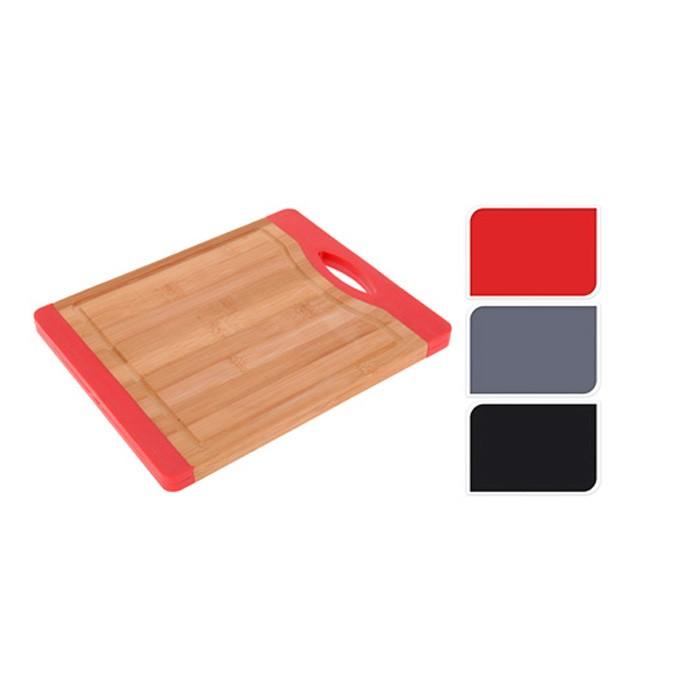 Доска разделочная 27*22*1,6, бамбук, в ассортиментеДоска разделочная от Excellent Houseware изготовлена из бамбука. Отлично подходит для нарезки пищи. Возможные расцветки: Красный, Серый, Черный. Внимание! Для данного товара выбрать цвет заранее не имеется возможности.<br>