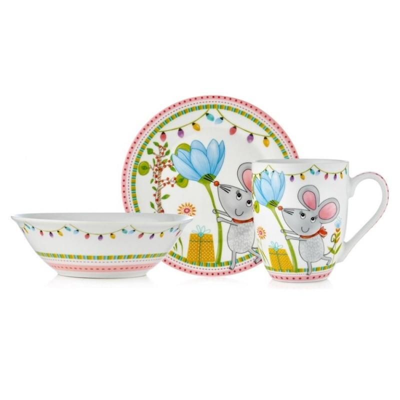 Набор посуды детский Walmer Miss Mouse 3 предмета