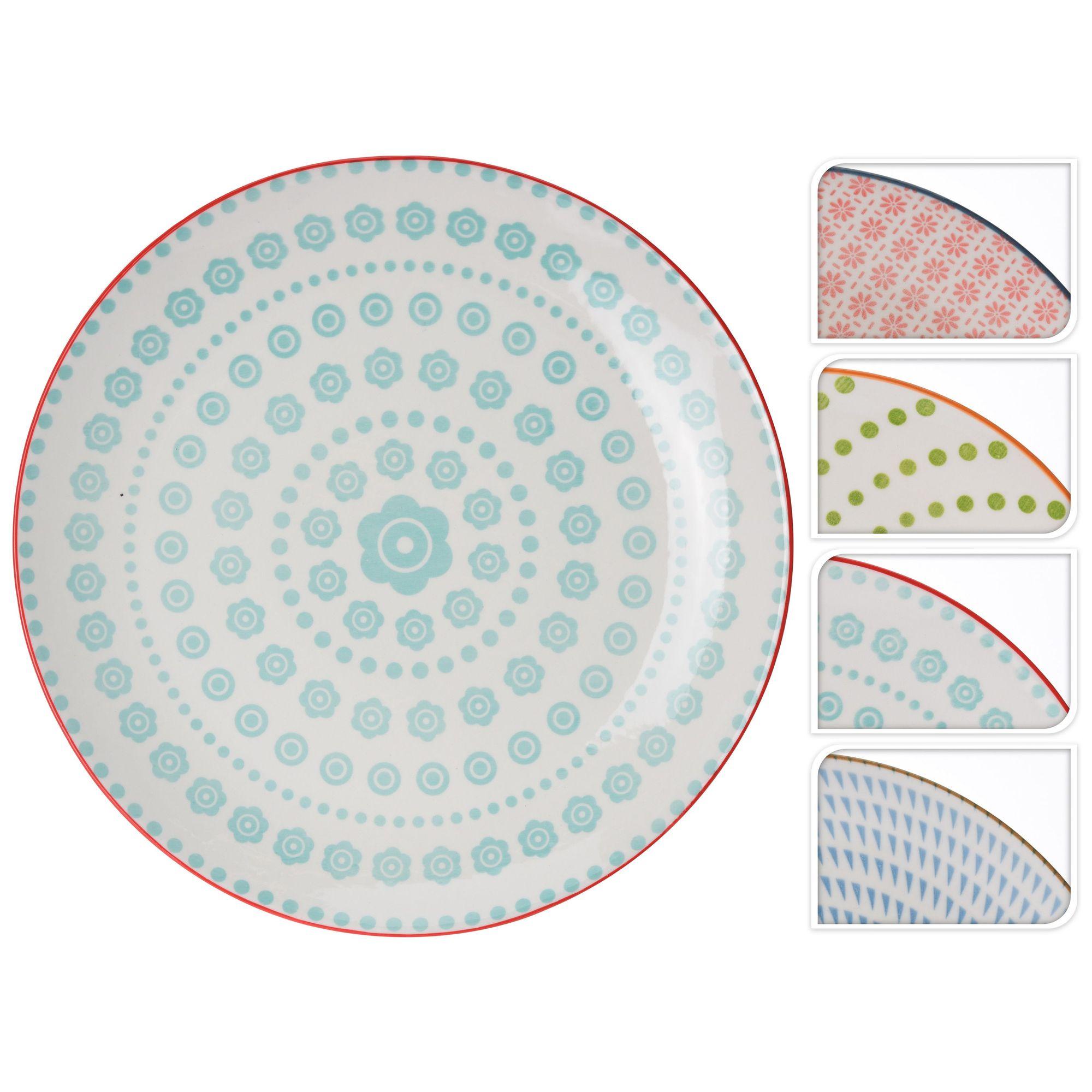 Тарелка в ассортиментеОбеденная тарелка станет повседневным предметом, необходимым на кухне у хозяйки. Этот элемент домашней утвари прекрасно подойдет и для праздничной сервировки так как выполнен в привлекательном современном дизайне. Круглая тарелка 28 см в ассортименте имеет подходящий размер в диаметре, она идеально впишется в оформление, станет незаменимой среди прочих предметов.Непритязательный стиль исполнения этой универсальной тарелки бренда Экселент Хаусвейр, удобная для использования форма и качественные материалы изготовления найдут поклонниц не только среди любительниц классики. Хорошие эксплуатационные характеристики обеспечат оптимальный срок службы. Данное изделие оценит даже требовательный потребитель.<br>