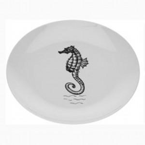 Тарелка Морские обитателиТарелка Морские обитатели изготовлена из качественного фарфора белого цвета и украшена оригинальным рисунком. Акая тарелка украсит сервировку Вашего обеденного стола. Предназначена для подачи вторых блюд.<br>