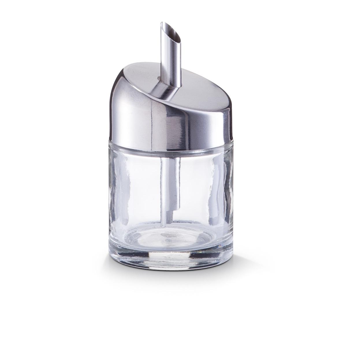 Емкость для сахара d-6х11 смЕмкость для сахара станет одной из тех незаменимых мелочей, которые делают вашу жизнь проще и комфортнее. Представленная модель изготавливается из прочного стекла, которое обладает высокой устойчивостью к случайным повреждениям. Особенности материала исключают возникновение царапин и потертостей даже после длительного регулярного использования. Плотно закрывающаяся крышка не допускает просыпания сахара, а специальный дозатор позволит точно и аккуратно отмерить необходимое количество продукта.<br>