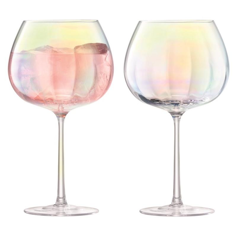 Набор круглых бокалов 2 шт. 650 мл LSA International Pearl