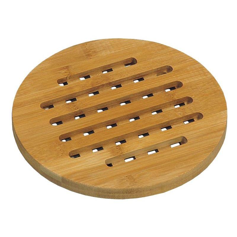 Подставка д/горячего круглая d19 см бамбук