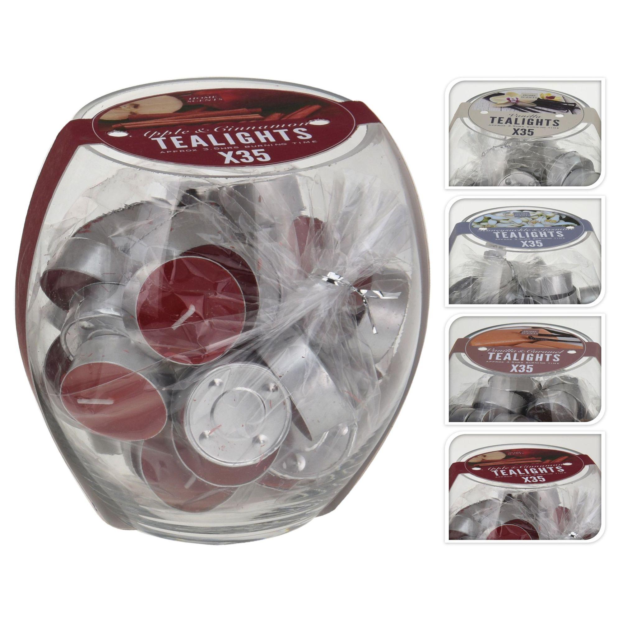 Набор свечей чайных в банке 35 шт. в ассортименте<br>