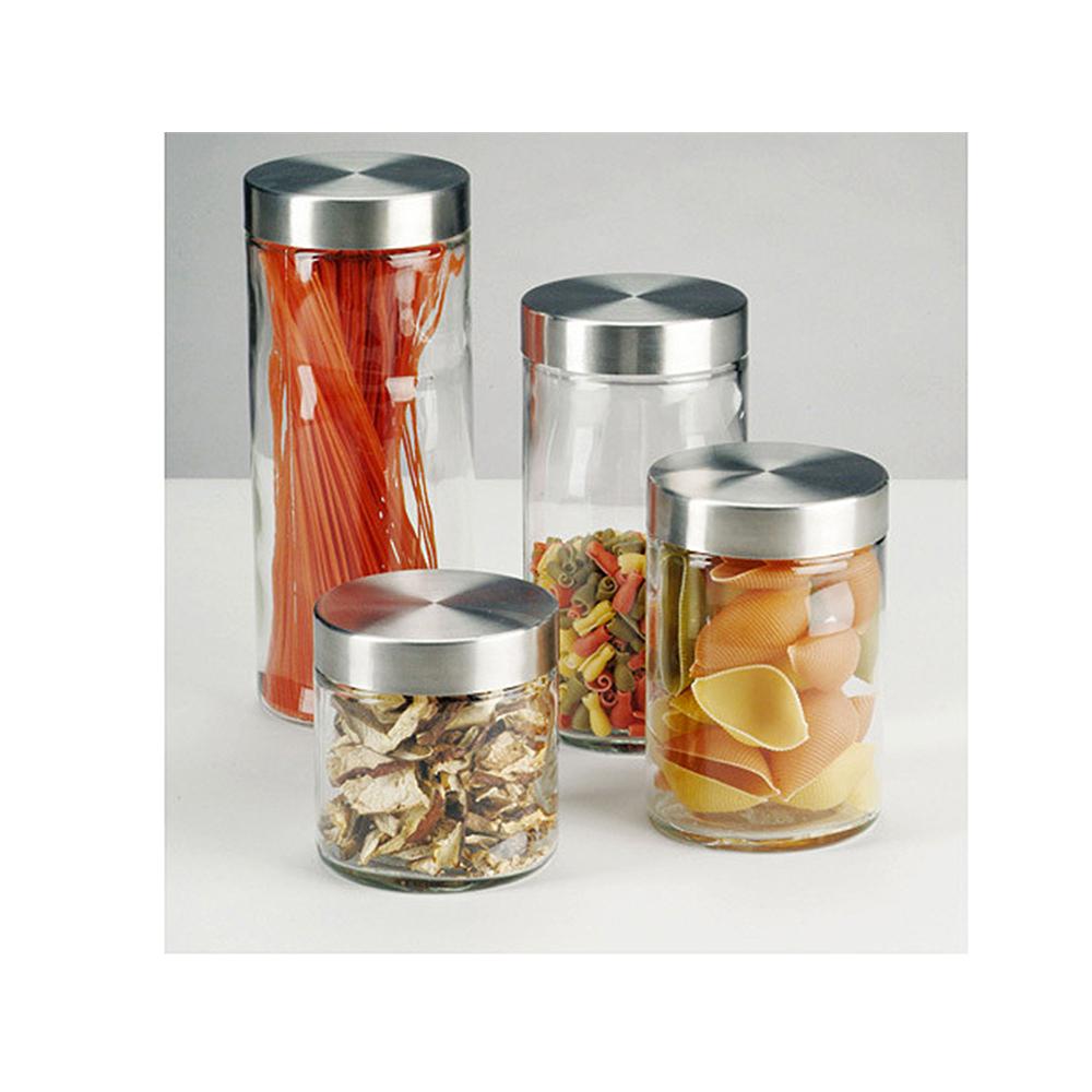 Банка для продуктовБанка 11 х 27 см для продуктов с металлической крышкой предназначена для хранения сыпучих продуктов.<br>