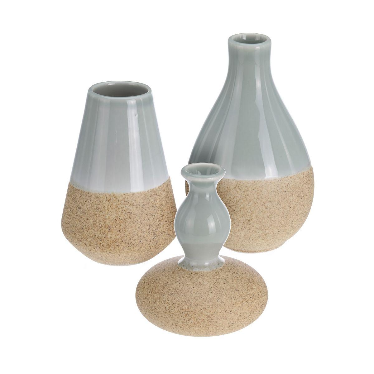 Набор ваз 3 шт 7*7*10 / 8*8*9,6 / 7,5*7,5*12 смвазы в наборе 3 шт, разм. 7x7x10 см/ 8x8x9.6 см/ 7.5x7.5x12см<br>