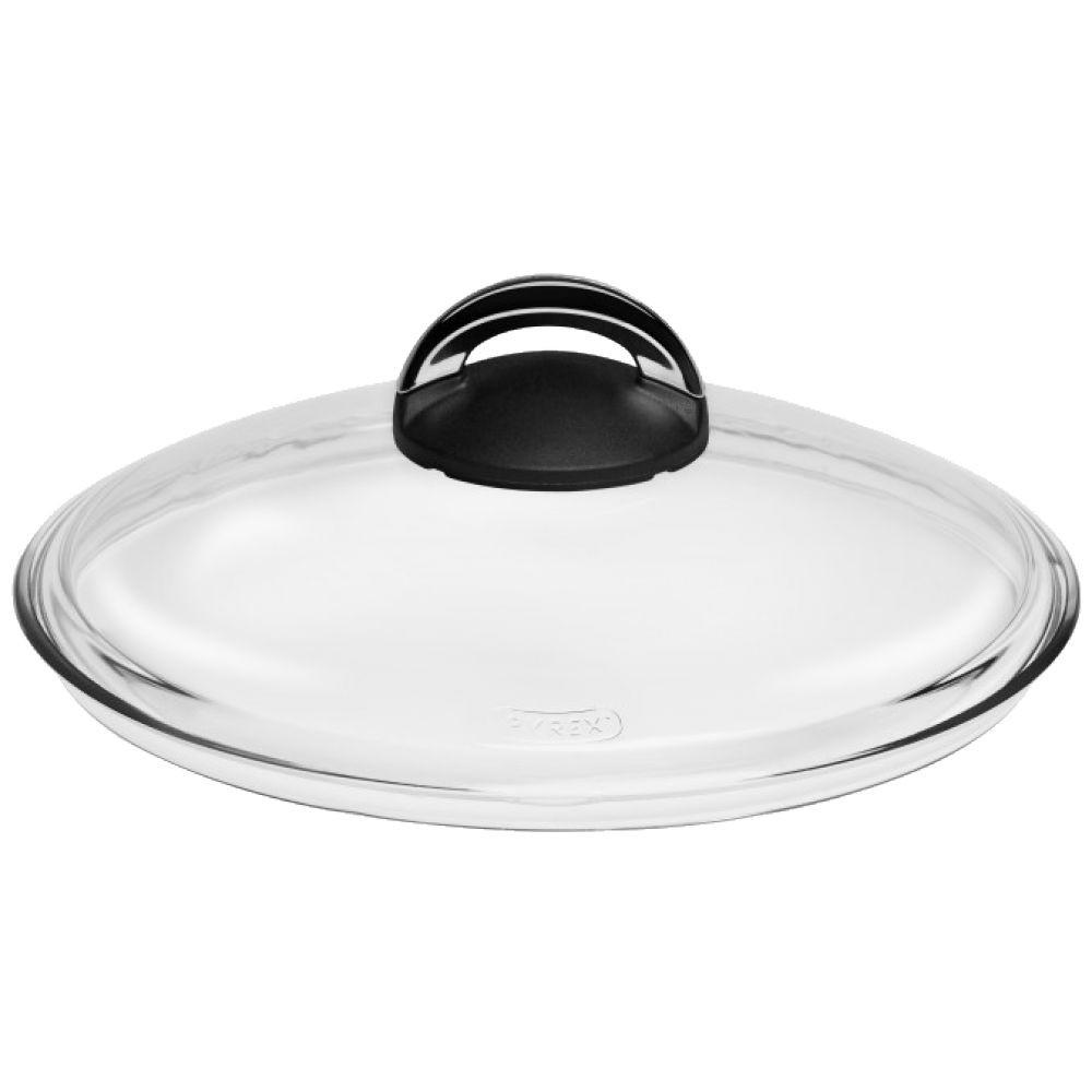 Крышка стеклянная с бакелитовой ручкойКрышка сделана из стекла высокого качества, а благодаря бакелитовой речке, крышка не нагревается и ее легко можно снять со сковороды. Прозрачная крышка позволяет видеть как готовятся ваши кулинарные шедевры.<br>