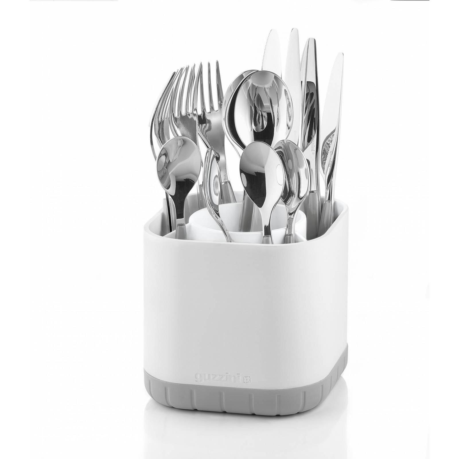 Подставка для столовых приборов MY KITCHENFratelli Guzzini производит пластиковую посуду и аксессуары для дома. Элегантная подставка - отличный помощник на кухне, благодаря которому столовые приборы всегда будут у вас под рукой, и ими удобно будет пользоваться.<br>