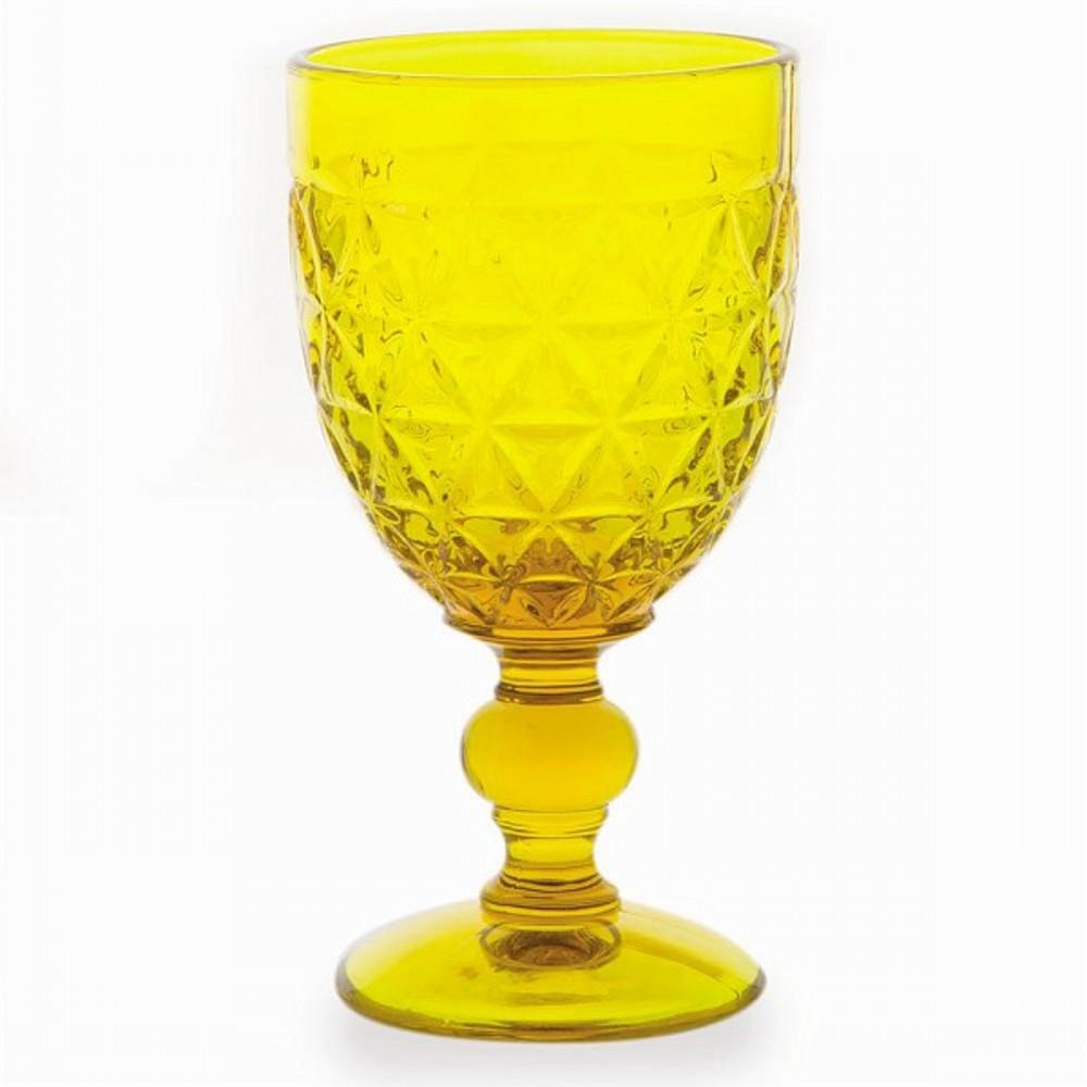 Бокал для вина 460 мл ABIGAILСервировка<br>Бокал для вина имеет оригинальный дизайн и яркий насыщенный цвет. Разбавьте  праздничное украшение вашего стола ярким элементом.<br>