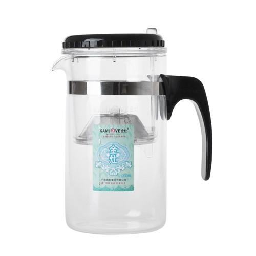Чайник стеклянный заварочный ГунфуУдобный и практичный чайник Гунфу идеально подойдет для большой компании или дружной семьи. С ним можно приготовит чай на 7-8 человек одновременно. Пользоваться чайником очень просто: положите чай во внутреннюю колбу, залейте водой и настаивайте то количество времени, которое необходимо. Далее вам нужно лишь нажать на кнопку, чтобы жидкость из внутренней колбы слилась во внешнюю.<br>