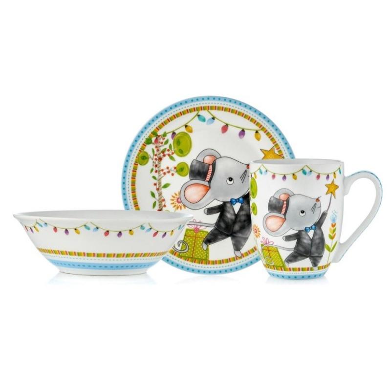 """Набор посуды детский Walmer """"Mister Mouse"""" 3 предмета"""