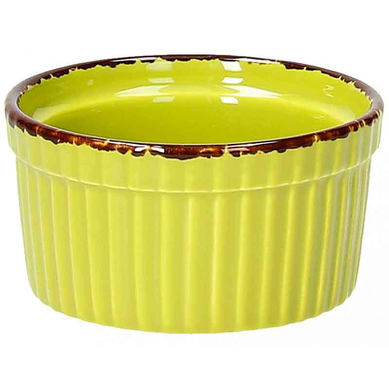 Рамекин фарфоровый Tognana Vulcania 9 х 5 см зелёный