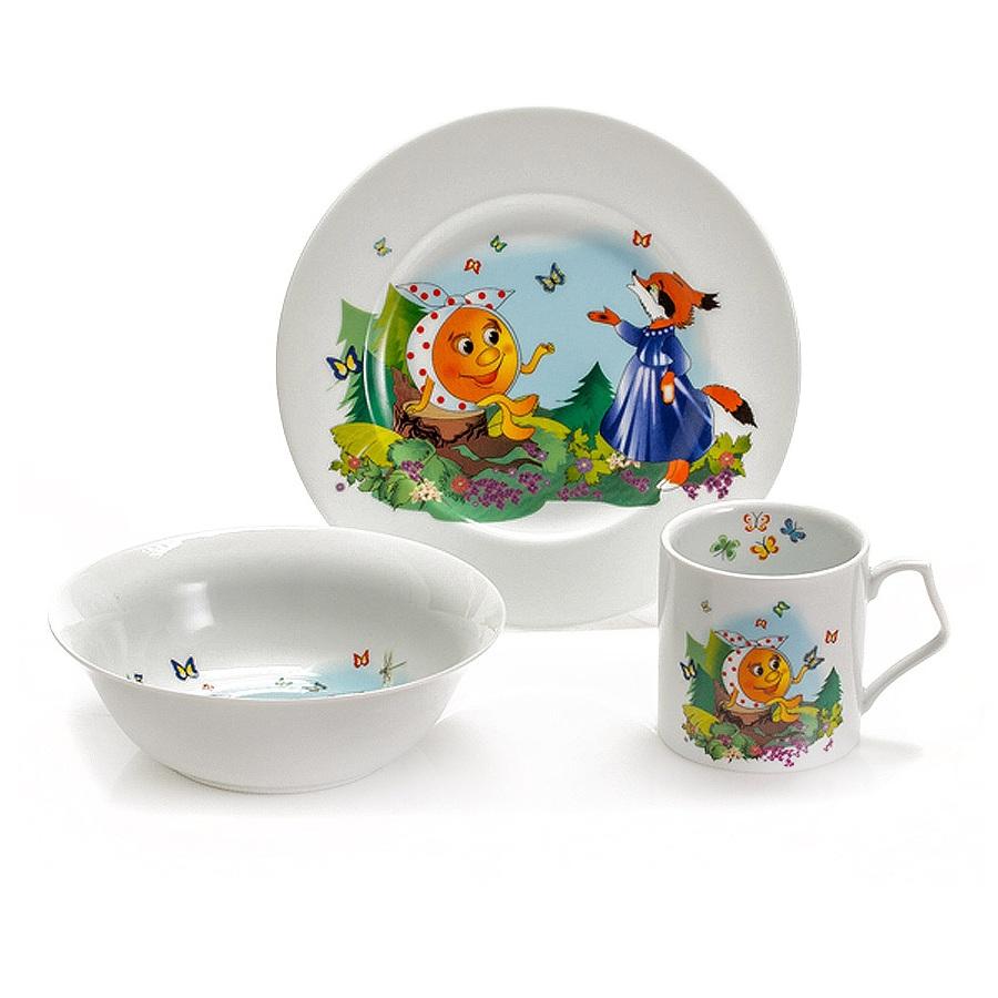Набор для завтрака КолобокСервировка<br>Посуда от чешского бренда - превосходные эргономичные предметы, которые превзойдут все ваши представления о стильных и качественных вещах. Набор для завтрака - один из таких примеров, которым вы останетесь довольны.<br>