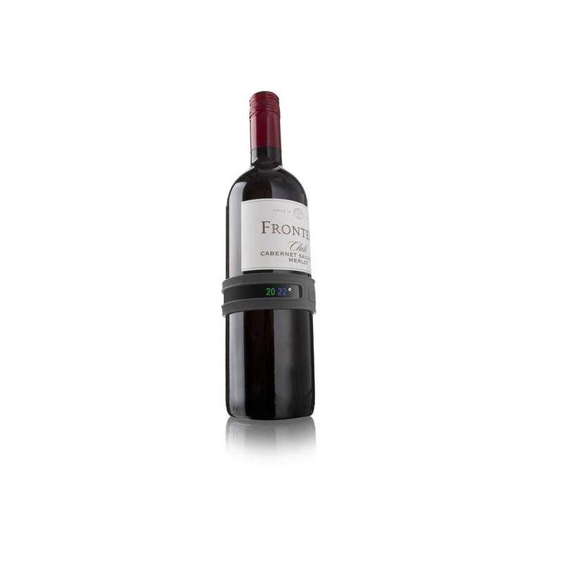 Термрометр-Браслет д/вина, темно-серыйИспользовать браслет-термометр д/вина совсем несложно. Просто оберните его вокруг бутылки и дождитесь появления показателей. Теперь вы точно будете знать, когда ваше вино готово к подаче! д/удобства на задней панели браслета указана информация об оптимальных температурах сервировки д/разных сортов вин.<br>