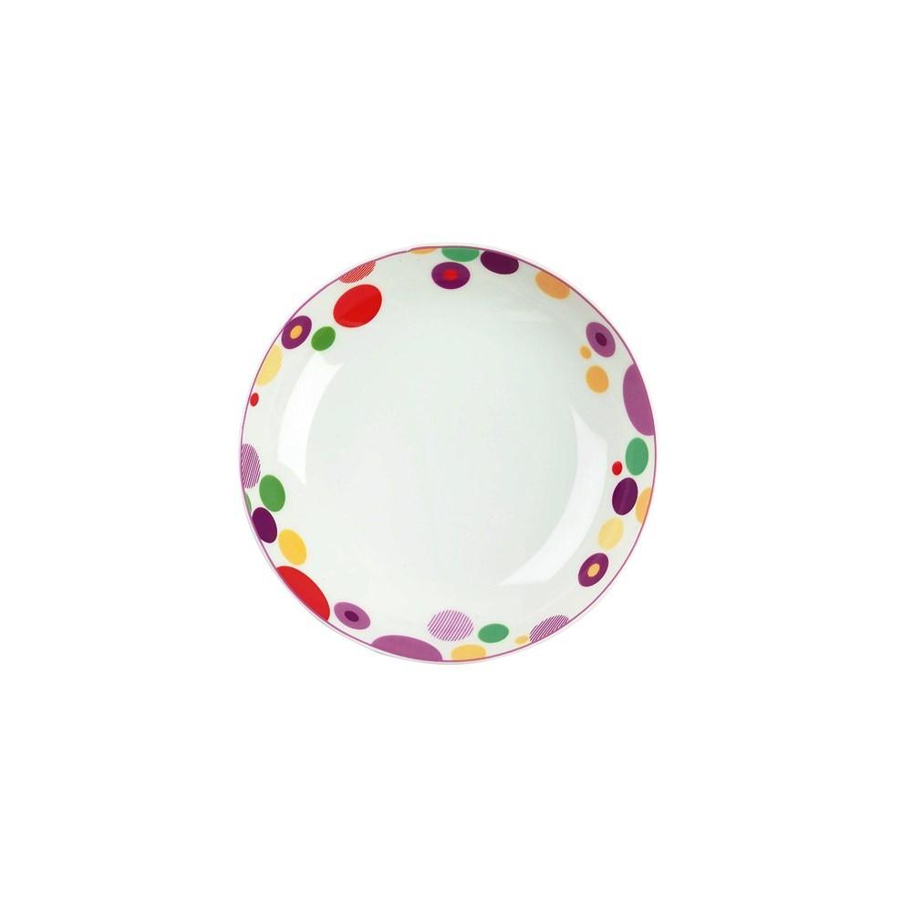 Тарелка суповая SMERALDO FESTIVAL d22 смДесертная тарелка будет незаменима для сервировки стола. Представленная модель отлично подходит как для повседневного использования, так и для оформления праздничных мероприятий. Фарфор, из которого изготовлена тарелка, отлично сопротивляется мелким повреждениям в виде царапин и потертостей, благодаря чему даже после длительного использования предмет будет иметь совершенно новый вид. Структура материала обеспечивает устойчивость ко внешним воздействиям, что позволит вам легко очищать изделие при помощи любого средства для мытья посуды.<br>