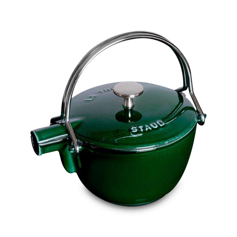 Чайник круглый 1,15 л Staub Specials зеленый базилик