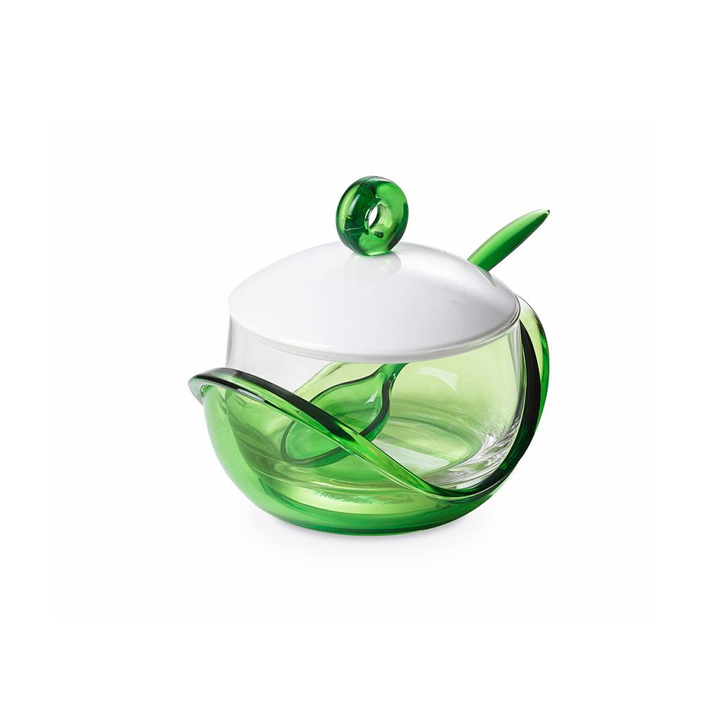 """Емкость для хранения с крышкой и ложкой 0,25 л Omada """",Trendy"""", зеленая"""