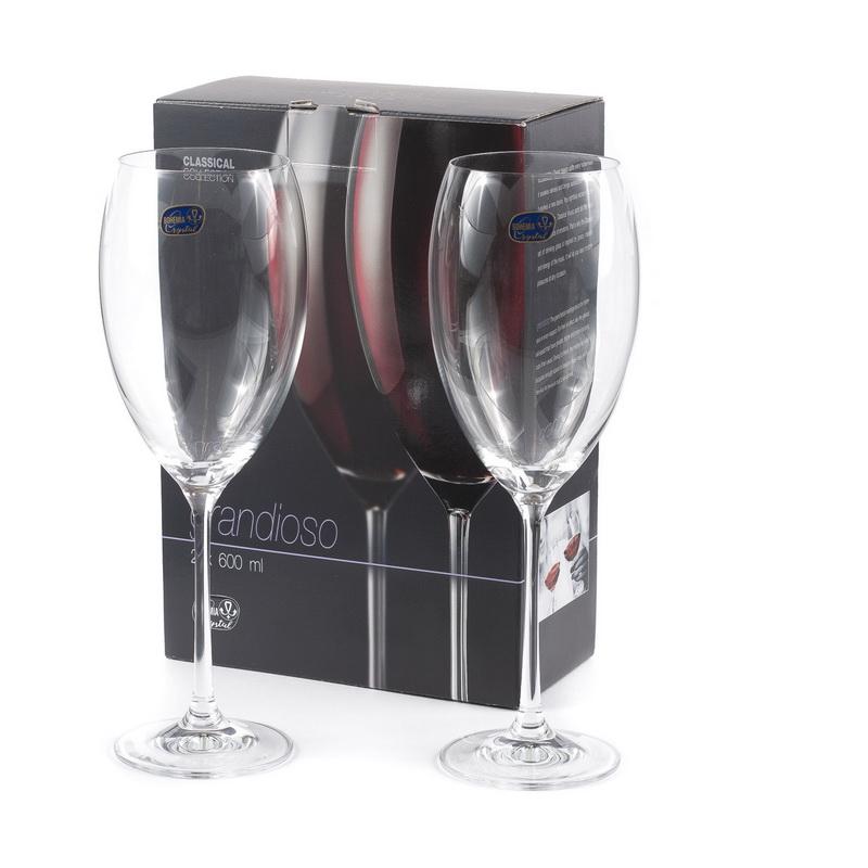 Набор бокалов для вина 2 шт 600 мл Grandioso