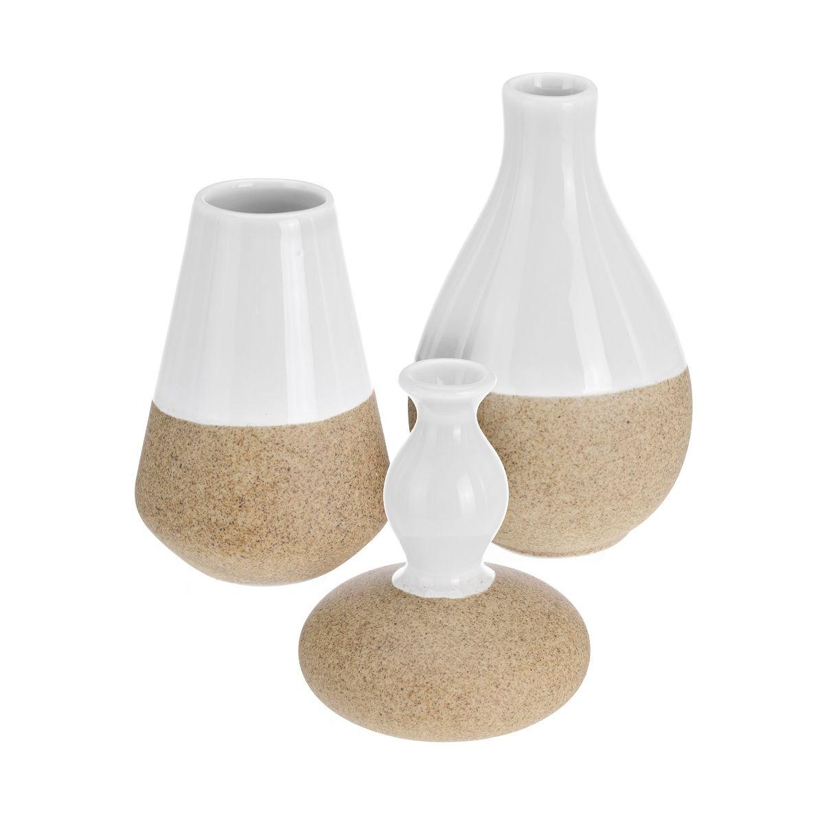 Набор ваз 3 шт.вазы в наборе 3 шт, разм. 7x7x10 см/ 8x8x9.6 см/ 7.5x7.5x12см<br>