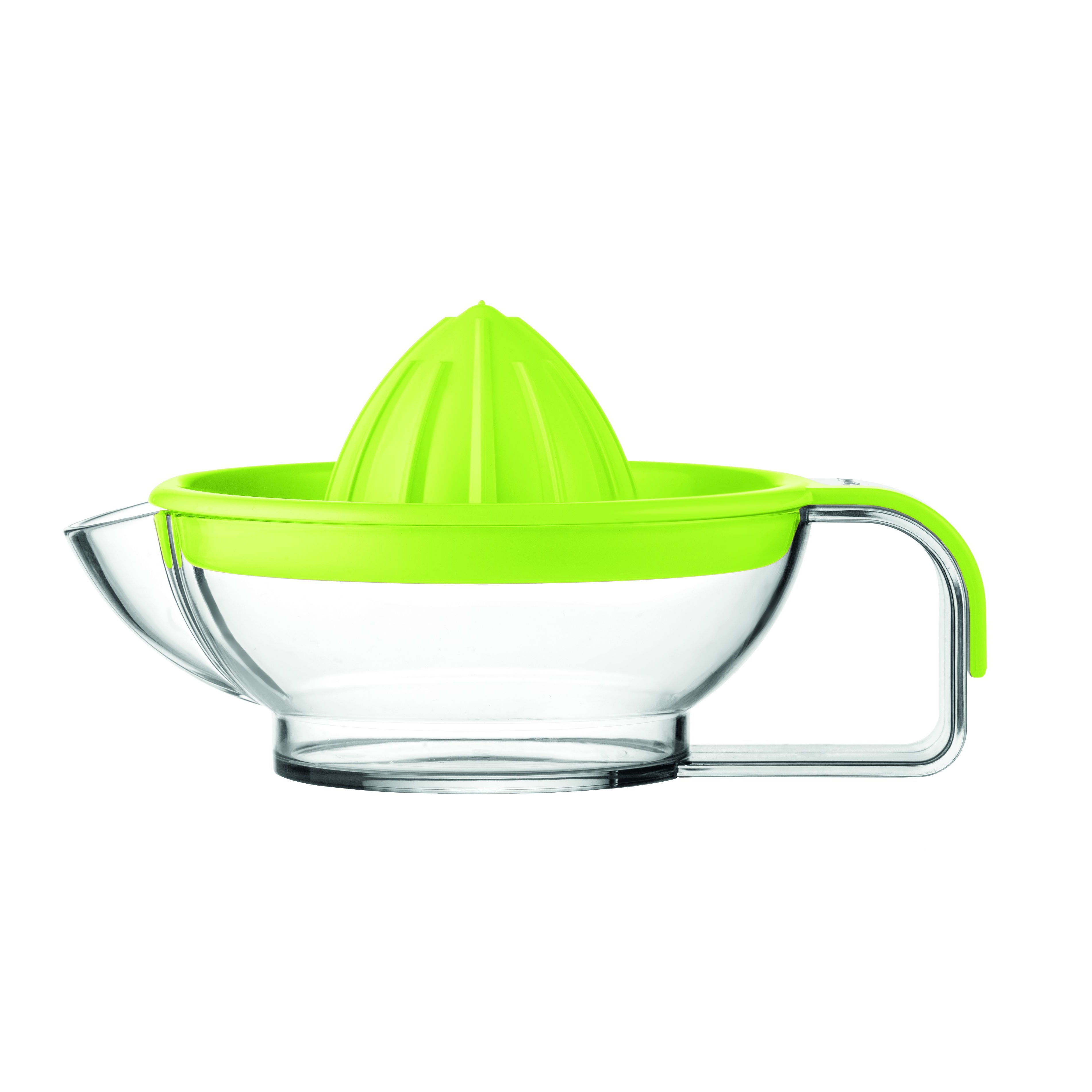 Соковыжималка для цитрусовых MY KITCHEN (зеленая)Соковыжималка для цитрусовых MY KITCHEN проста и удобна в эксплуатации. Модель предназначена для ежедневного приготовления свежего и ароматного сока из апельсинов или грейпфрутов, а также подойдет для создания лимонного или лаймового сока, который идеален для десертов и многих других блюд. Для приготовления достаточно просто прижать половинку фрукта к выступающей части крышки и провернуть в обе стороны до получения сока. Напиток будет отфильтрован при помощи решетки в крышке, и вы получите чистый цитрусовый сок, полный витаминов, без мякоти и косточек.<br>