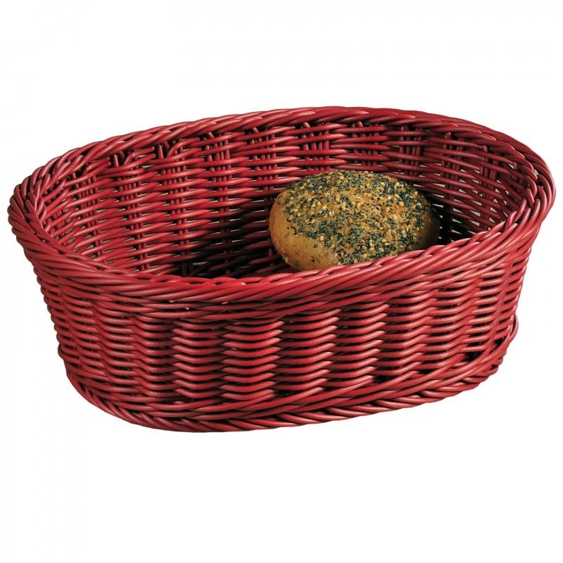 Корзина для хлеба и фруктов плетеная Kesper 29,5х23 см красная