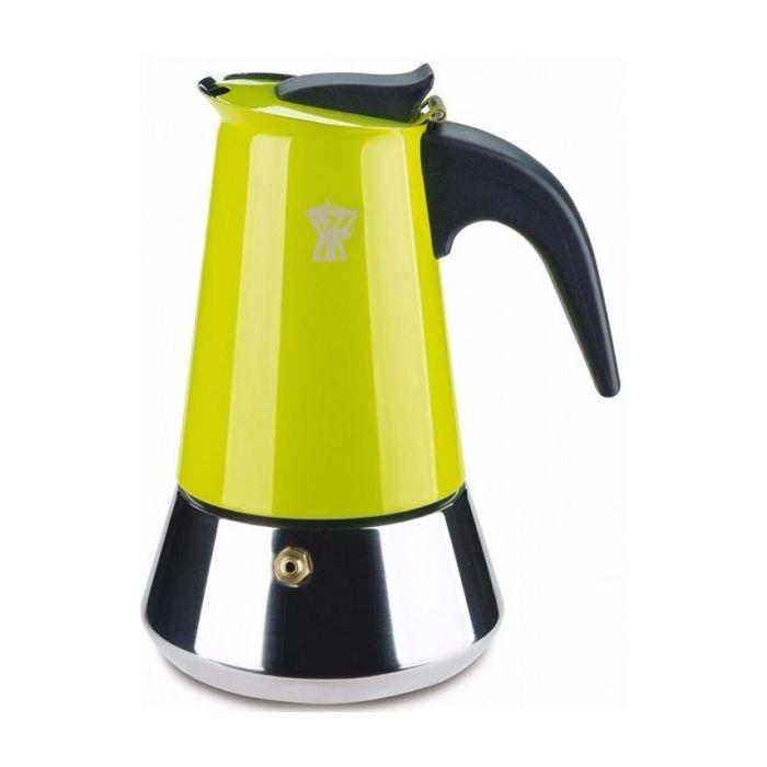 Кофеварка гейзерная STEELEXPRESS на 6 чашек зеленаяКофеварка гейзерная СтилЭкспресс позволит вам быстро и легко сварить крепкий и бодрящий кофе для всей компании. Большой объем резервуара делает такую кофеварку отличным выбором для офиса и для дома. Прочный металлический корпус и надежная конструкция обеспечивают долговечность и практичность эксплуатации и ухода. Гейзерная кофеварка с успехом заменит громоздкие кофемашины и сварит ароматный и насыщенный напиток, который зарядит вас бодростью и энергией для продуктивного дня. Кофеварка гейзерная СтилЭкспресс изготовлена из пищевого алюминия, который отлично сохраняет истинный вкус кофе.<br>