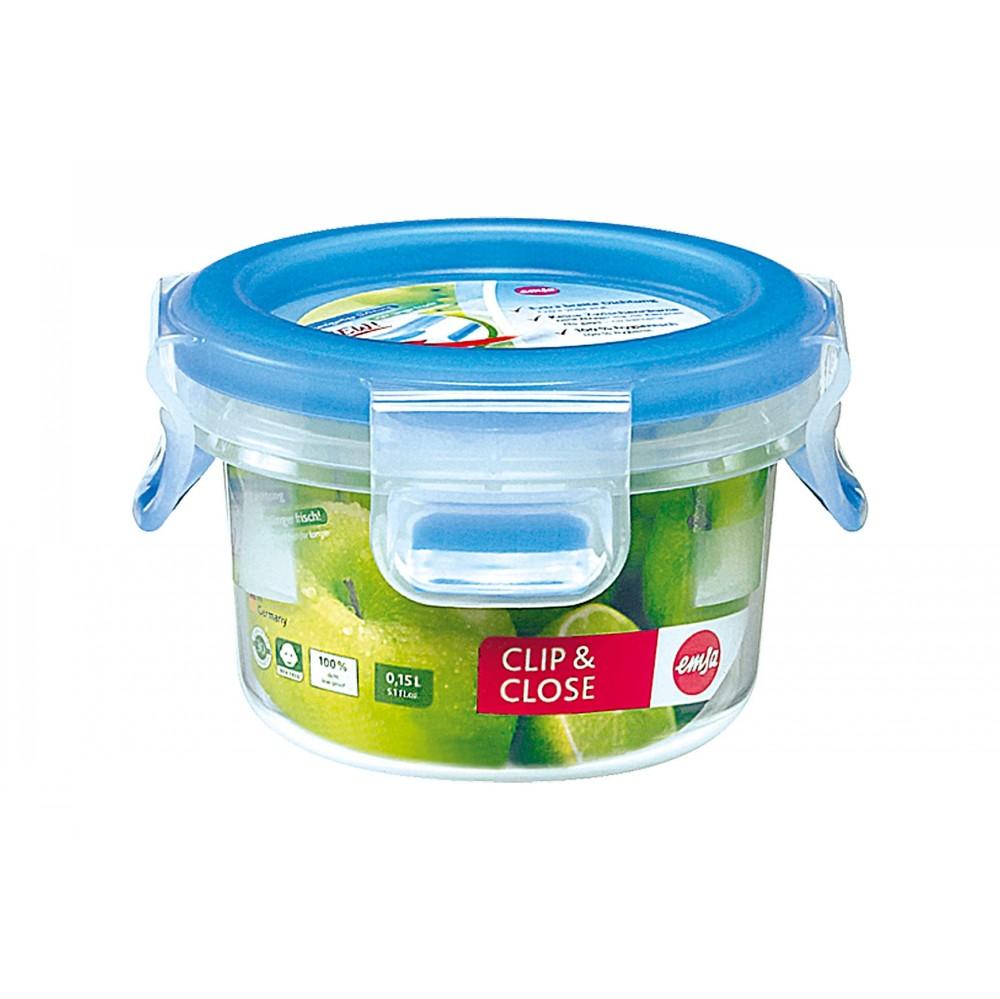 Контейнер CLIP &amp; CLOSE  круглый 2 0 лКонтейнер пищевой отлично пододйет для того, чтобы взять свой обед с собой в дорогу, для хранения и заморозки продуктов. Герметичная крышка на заклепках надежно защитит вашу еду. Здоровое питание это просто!<br>