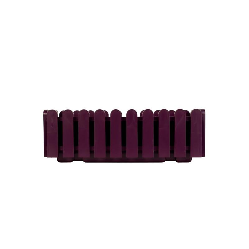 Кашпо LANDHAUS 50 см темно-фиолетовоеНемецкий бренд EMSA дарит жителям мегаполисов прекрасные аксессуары для дома и загородных домов, которые всегда радуют покупателей своим ярким и стильным дизайном и функциональностью. Кашпо из высококачественного пластика темно-фиолетового цвета станет прекрасным украшением Вашего дома. Такой ящик будет прекрасно смотреться на балконе. В нем можно легко высадить комнатные растения или рассаду для дачи.<br>