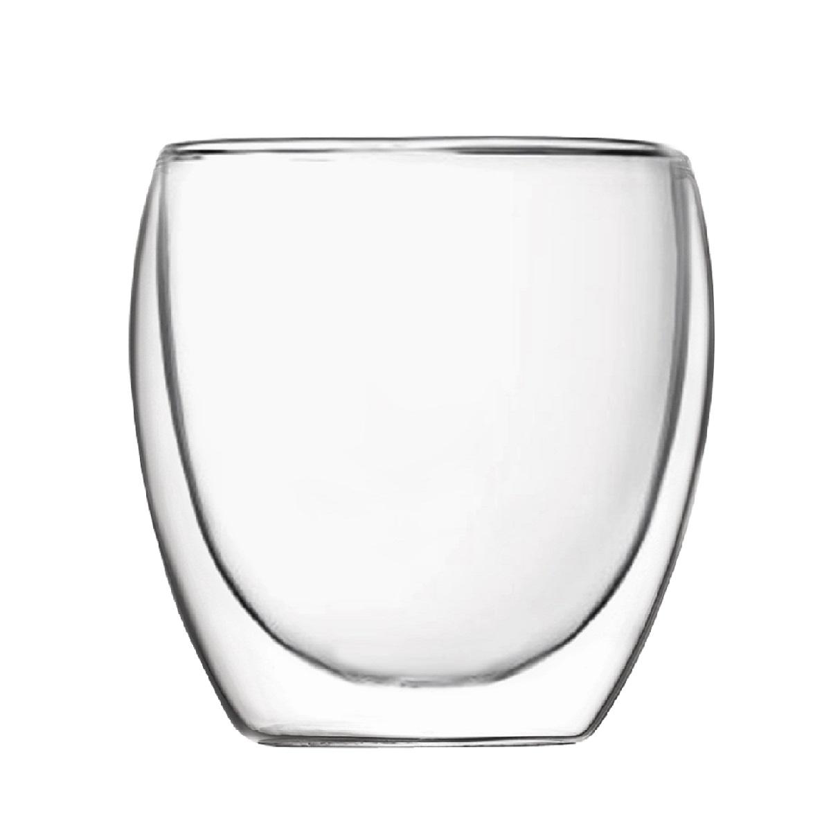Набор из 2-х стаканов с двойными стенками 200 мл, 8,3*8,2 смПодходит для использования в  посудомоечной машине. Не использовать в СВЧ печи,духовом шкафу.<br>