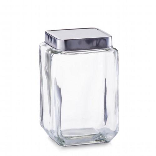 Банка для продуктовБанка сделана из стекла и закрывается плотно крышкой. Она отлично подойдет для хранения чая, печенья или любых других сыпучих продуктов.<br>